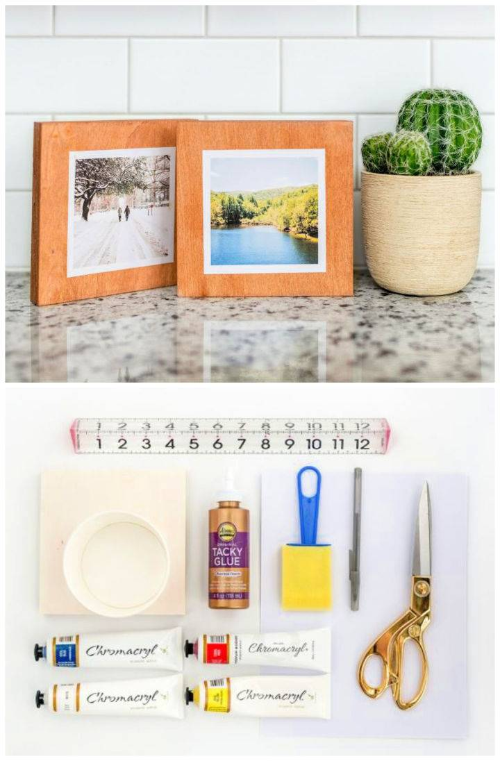 DIY Faux Stained Wood Instagram Frame