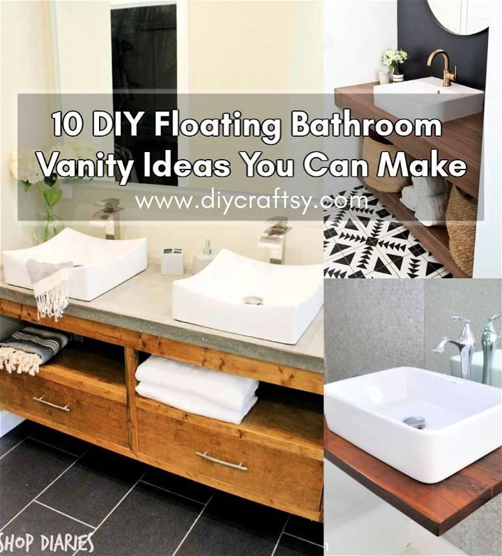 DIY Floating Bathroom Vanity Ideas