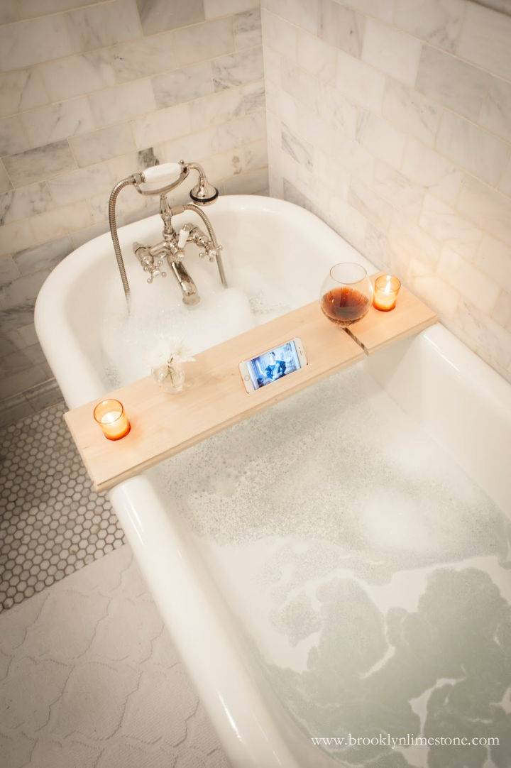 DIY Netflix Chill Bath Caddy