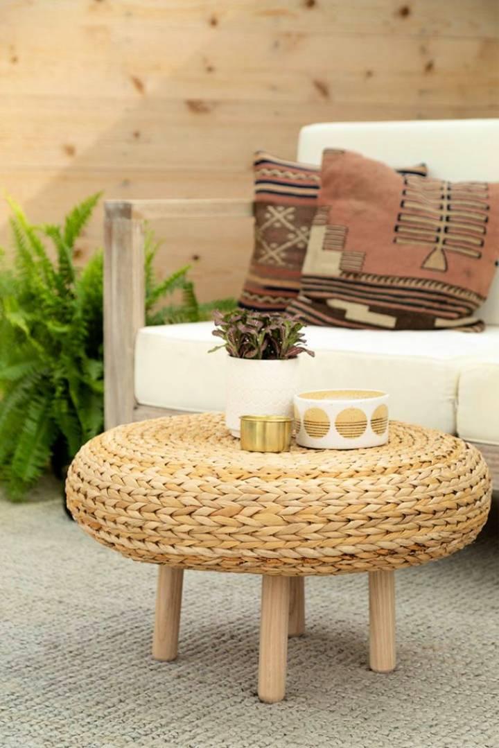DIY Stool To Coffee Table