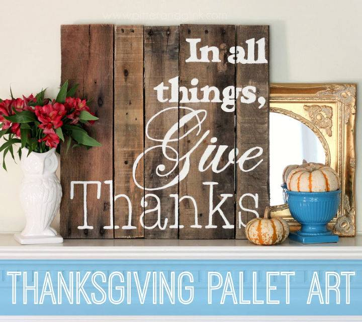 DIY Thanksgiving Pallet Art