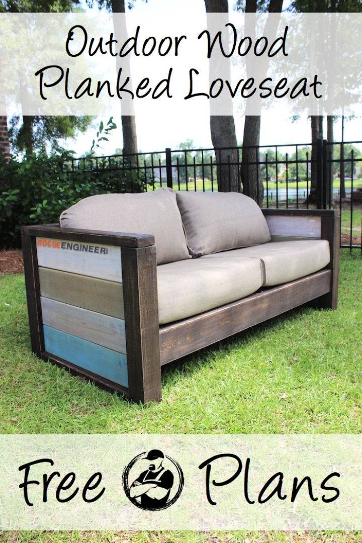 DIY Wood Plank Loveseat