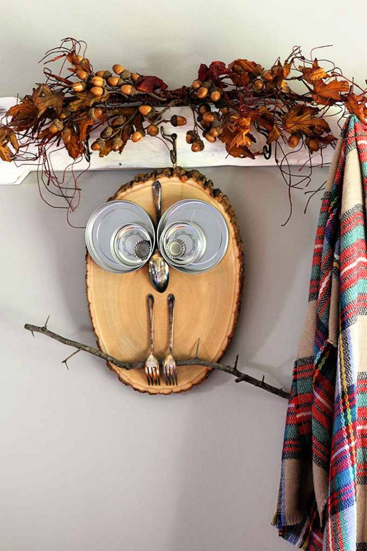 DIY Wood Slice Owl to Sell