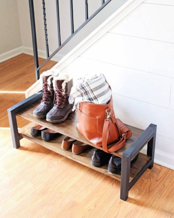 DIY Wooden Entryway Shoe Rack