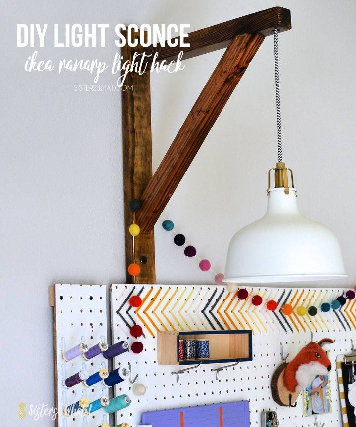 DIY Wooden Ikea Pendant Light Hack