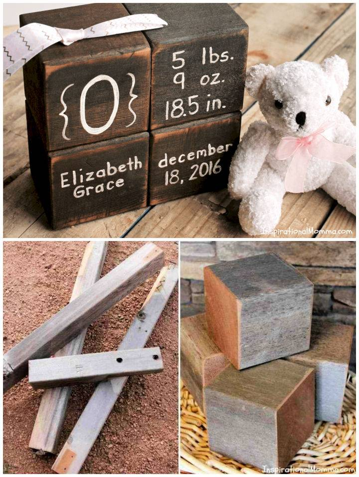 DIY Wooden Keepsake Baby Blocks