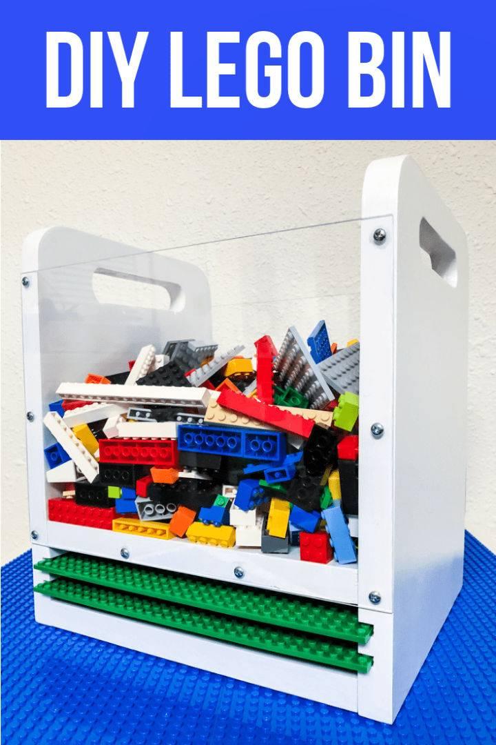 DIY Wooden Lego Bin