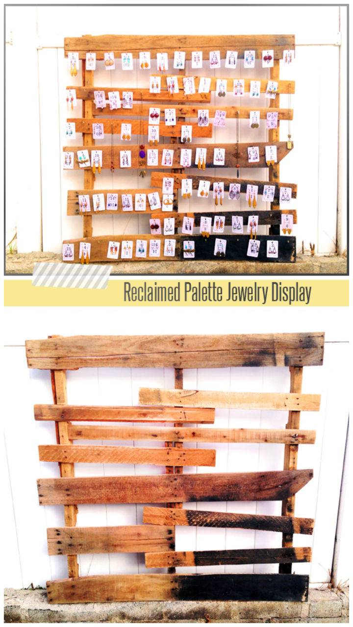 DIY Wooden Palette Jewelry Display
