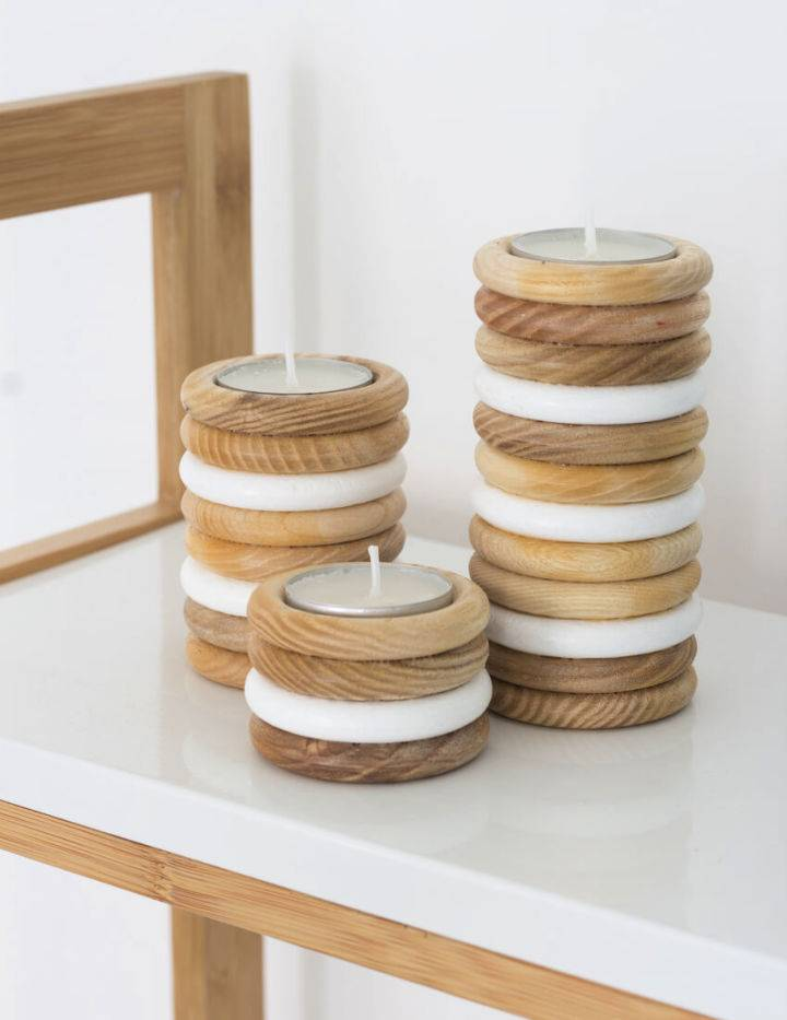 DIY Wooden Tealight Holders