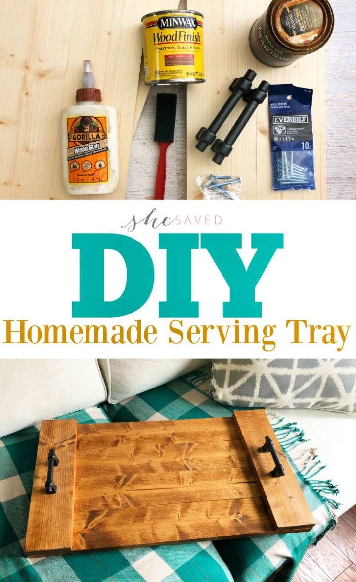 Easy DIY Farmhouse Serving Tray