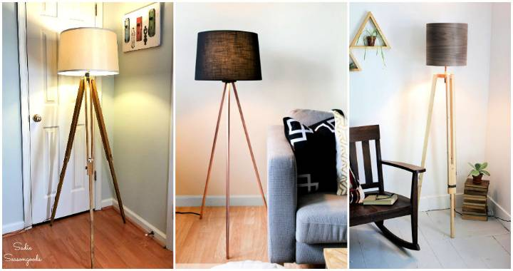 Easy to Make DIY Tripod Floor Lamp Ideas