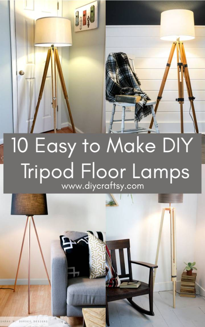 Easy to Make DIY Tripod Floor Lamps
