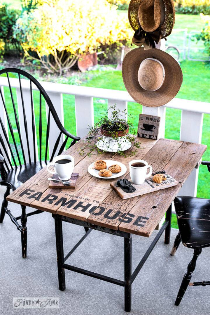 Farmhouse Style Outdoor Table
