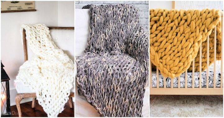Free Arm Knit Blanket Patterns for Beginners