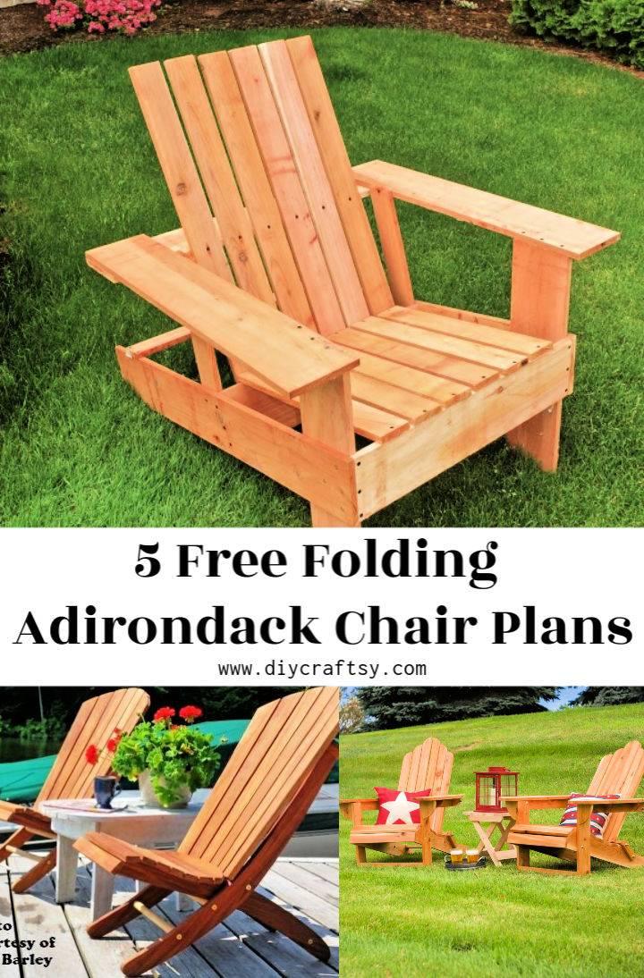 Free Folding Adirondack Chair Plans