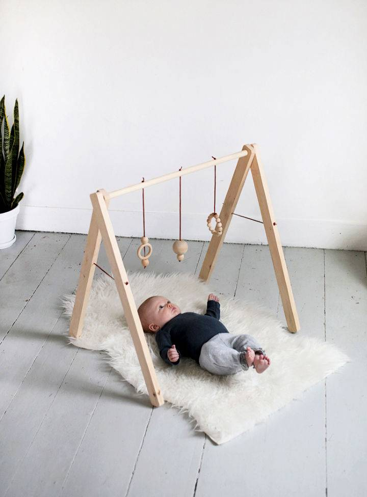 Homemade Wooden Baby Gym