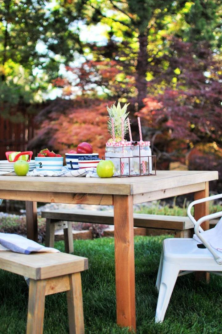 Kids Outdoor Table to Build and Sell