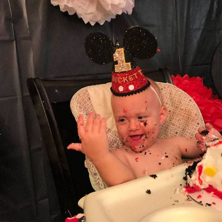 Mickey Mouse Baby Birthday Hat