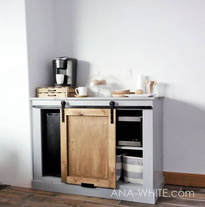 Mini Fridge Cabinet With Microwave