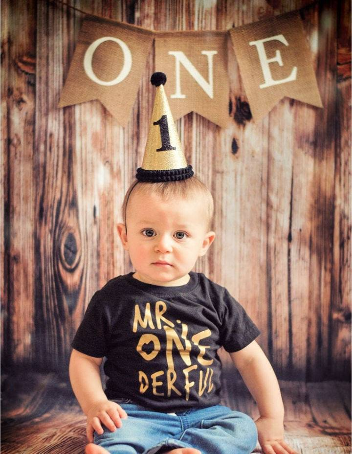 Paper Hat for First Birthday