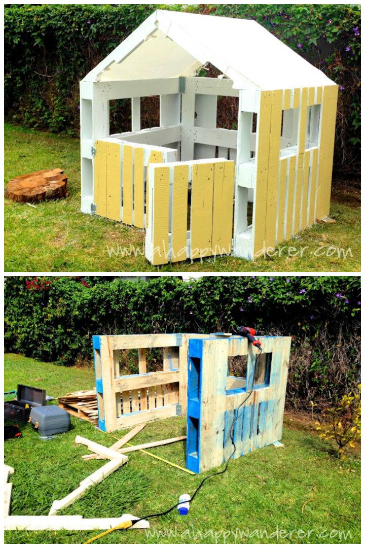 Playhouse Out Of Wooden Pallets