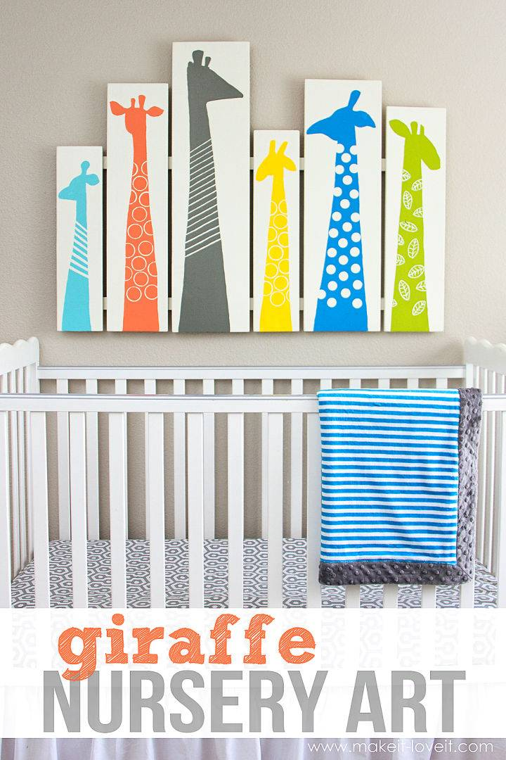 Profitable DIY Giraffe Nursery Art