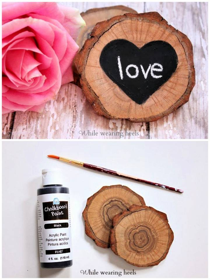 Rustic DIY Love Coasters to Sell