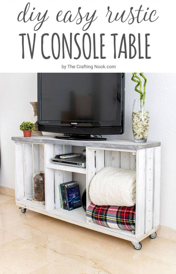 Rustic DIY TV Console Table