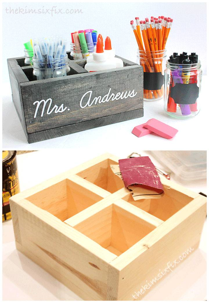 School Supply Organizer Teacher Gift Idea