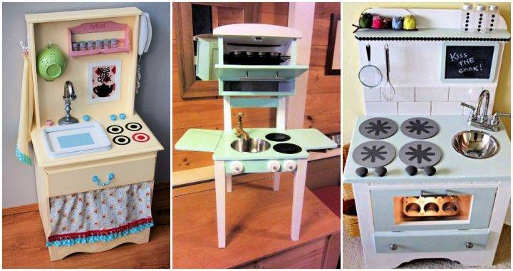 Unique DIY Play Kitchen Ideas