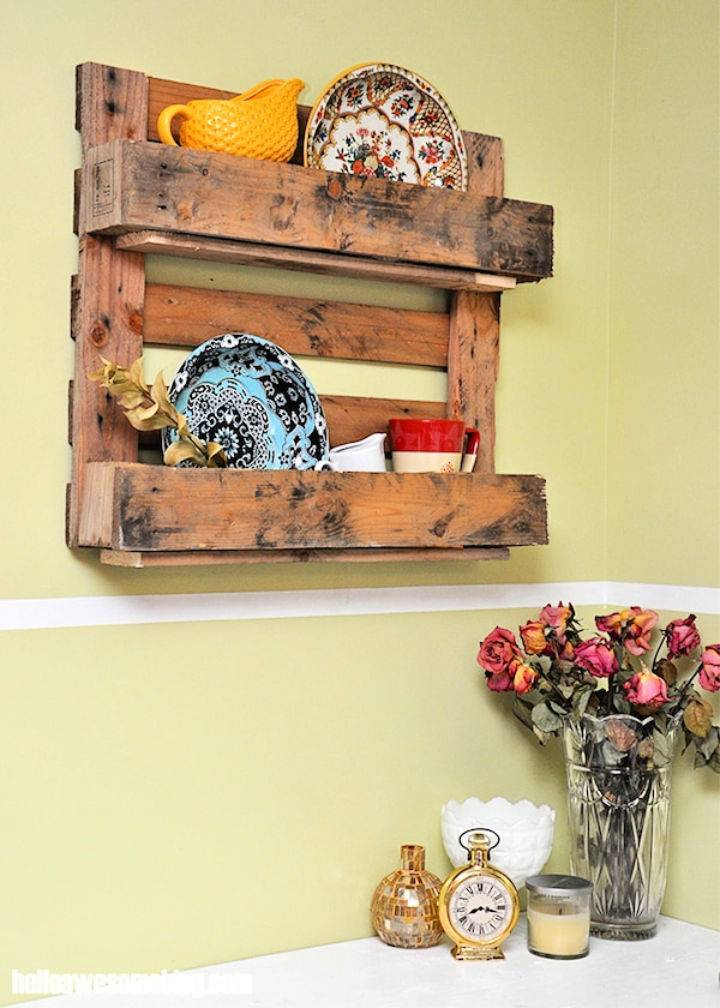 Wooden Pallet Shelf for Your Rustic Home
