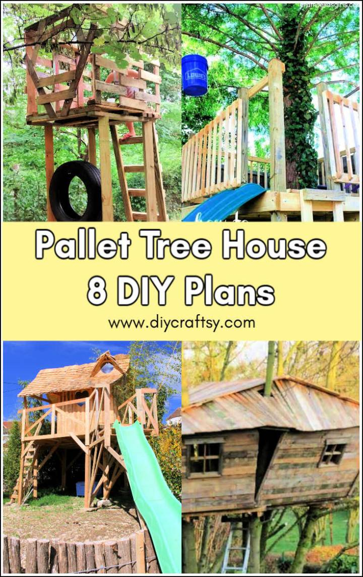 DIY treehouse plans out of pallets