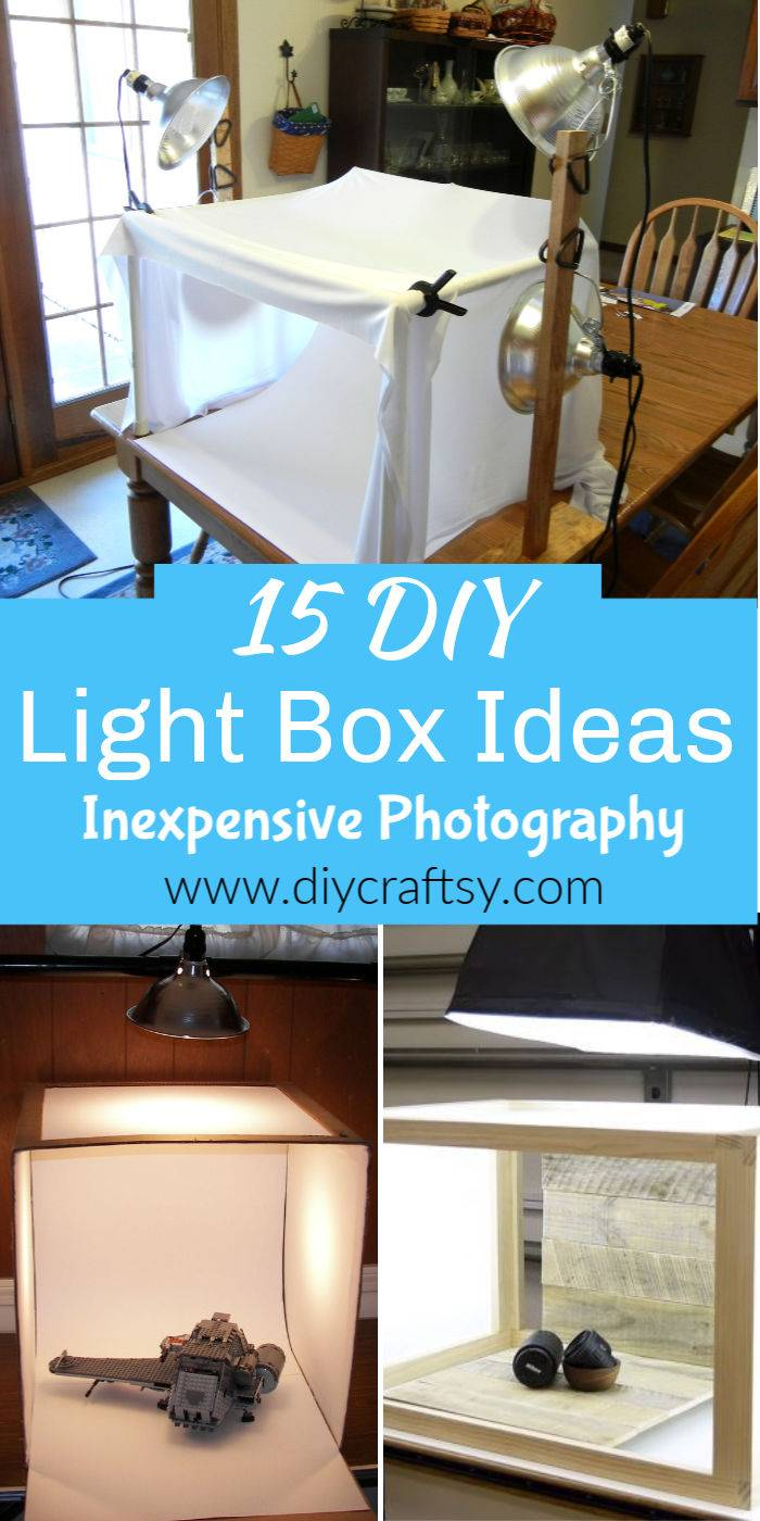 15 Easy DIY Light Box Ideas for Inexpensive Photography