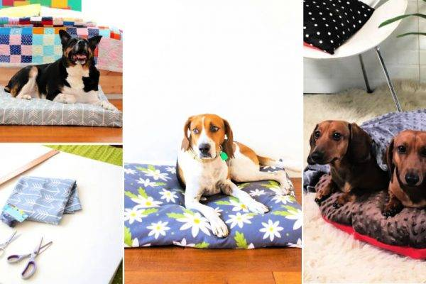 15 Free Dog Bed Patterns That Are Easy To Sew