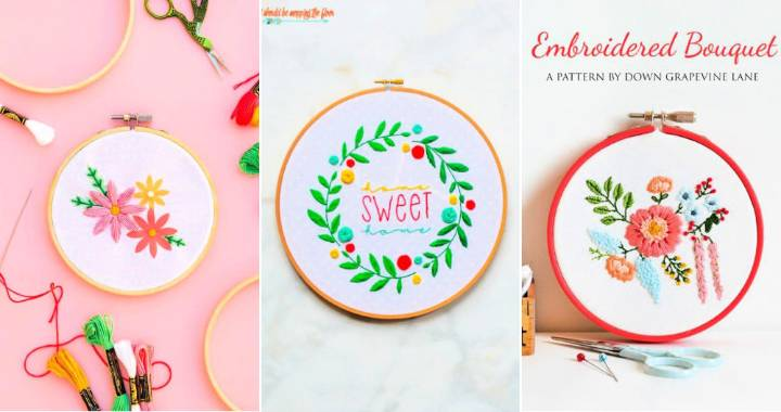 15 Free Floral Embroidery Patterns
