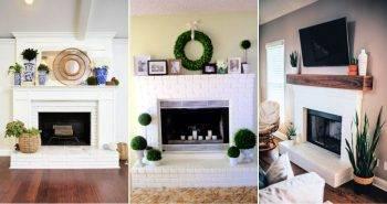 30 Unique White Brick Fireplace Ideas You Can DIY