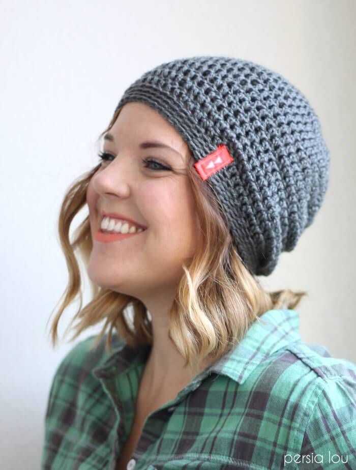 how to crochet a super easy slouchy hat free pattern