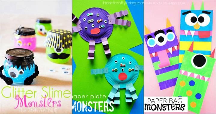 25 Unique DIY Monster Craft Ideas for Kids