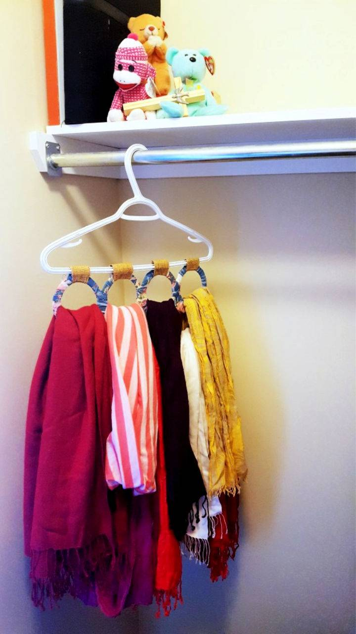 DIY Scarf Storage
