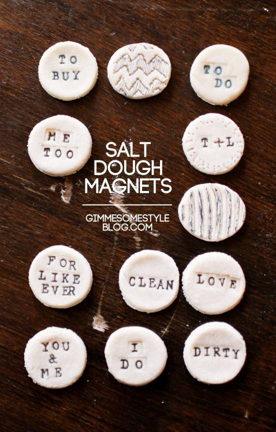 DIY salt dough magnets