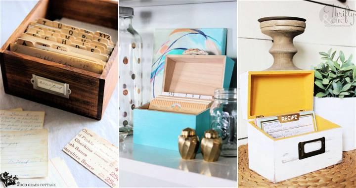 15 Simple DIY Recipe Box Ideas
