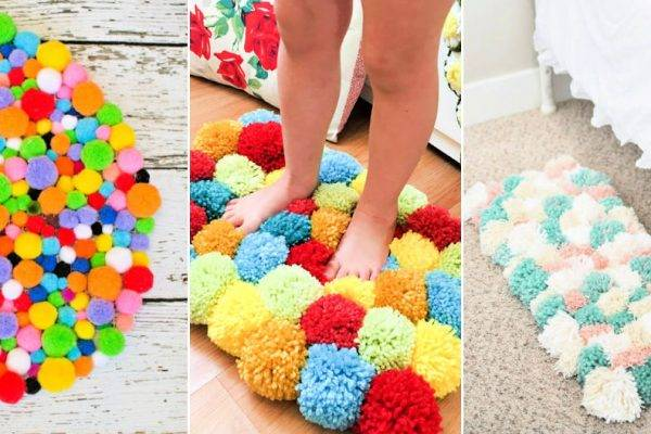 25 Beautiful DIY Pom Pom Rug Ideas