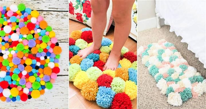 25 Beautiful DIY Pom Pom Rug Ideas
