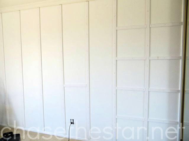 Adding Grid Wall Master Bedroom