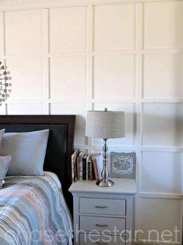 Board and Batten Master Bedroom DIY Tutorial 1
