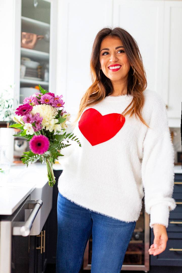 Easiest Valentines Day Sweater Tutorial