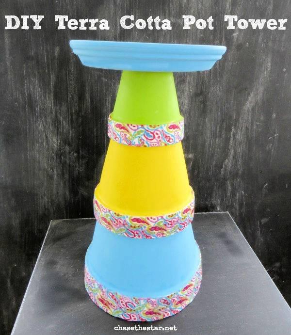 Terra Cotta Pot Tower