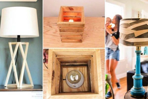 25 Easy DIY Wooden Lamp Ideas