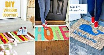 40 Beautiful DIY Doormat Ideas