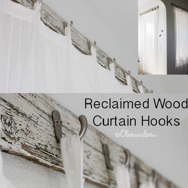 Bathroom Shower Curtains with Reclaimed Wood